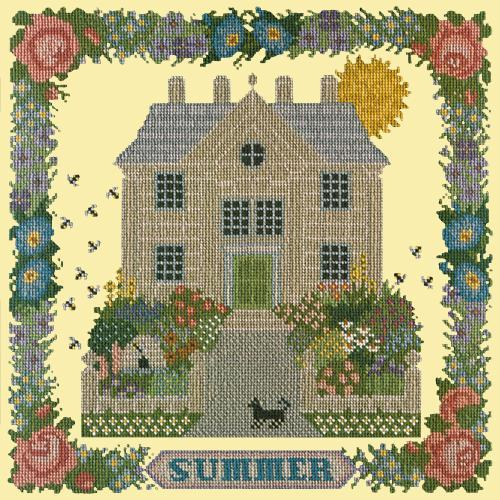 Summer Sampler Needlepoint Kit Elizabeth Bradley Design Butter Yellow