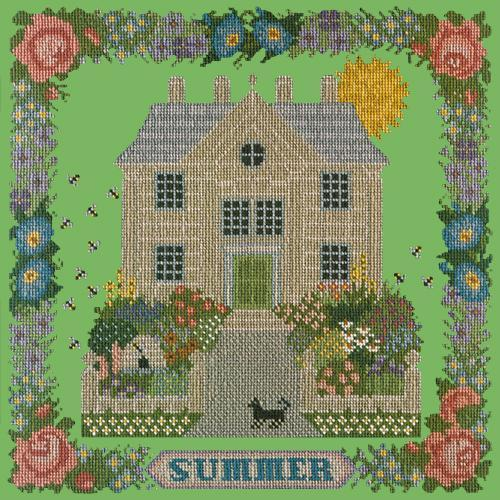 Summer Sampler Needlepoint Kit Elizabeth Bradley Design Grass Green