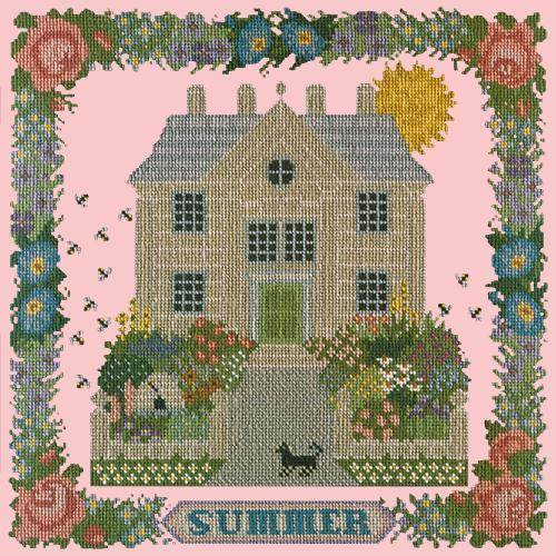 Summer Sampler Needlepoint Kit Elizabeth Bradley Design Pale Rose