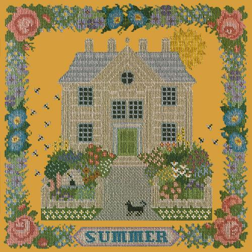 Summer Sampler Needlepoint Kit Elizabeth Bradley Design Yellow
