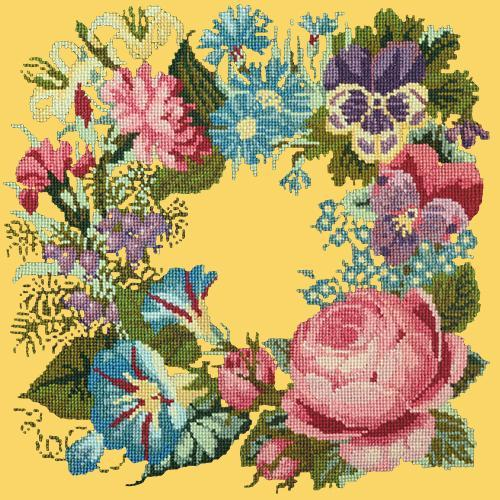 Summer Wreath Needlepoint Kit Elizabeth Bradley Design Sunflower Yellow