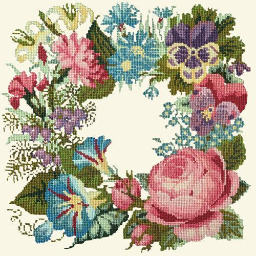 Summer Wreath Needlepoint Kit Elizabeth Bradley Design Winter White