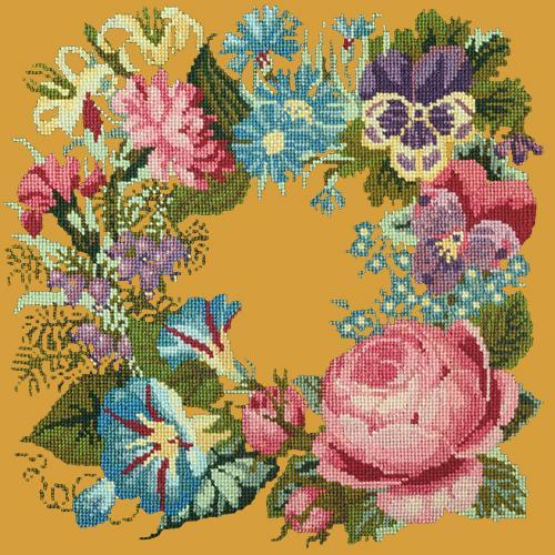 Summer Wreath Needlepoint Kit Elizabeth Bradley Design Yellow