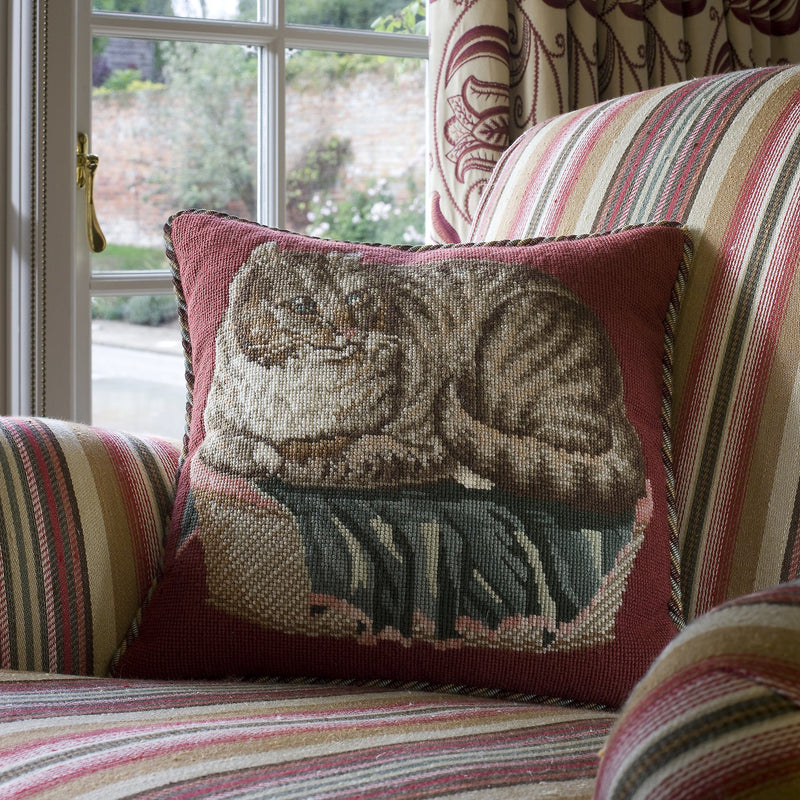 The Contented Cat Needlepoint Kit Elizabeth Bradley Design