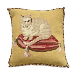 The Cream Cat Needlepoint Kit Elizabeth Bradley Design