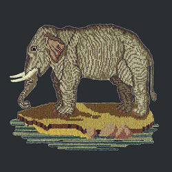 The Elephant Needlepoint Kit Elizabeth Bradley Design Black