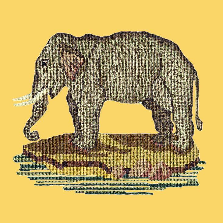 The Elephant Needlepoint Kit Elizabeth Bradley Design Sunflower Yellow