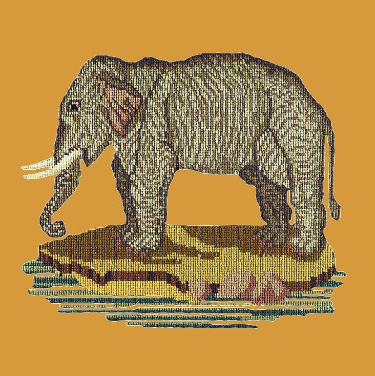 The Elephant Needlepoint Kit Elizabeth Bradley Design Yellow