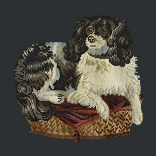 The King Charles Spaniel Needlepoint Kit Elizabeth Bradley Design Black