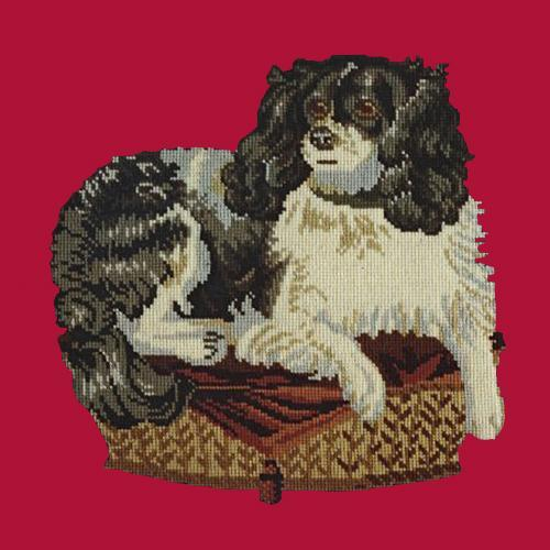 The King Charles Spaniel Needlepoint Kit Elizabeth Bradley Design Bright Red