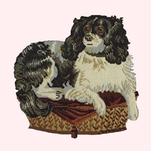 The King Charles Spaniel Needlepoint Kit Elizabeth Bradley Design Cream