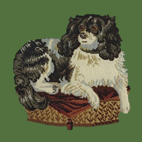 The King Charles Spaniel Needlepoint Kit Elizabeth Bradley Design Dark Green