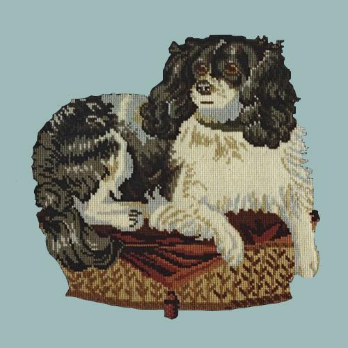 The King Charles Spaniel Needlepoint Kit Elizabeth Bradley Design Pale Blue