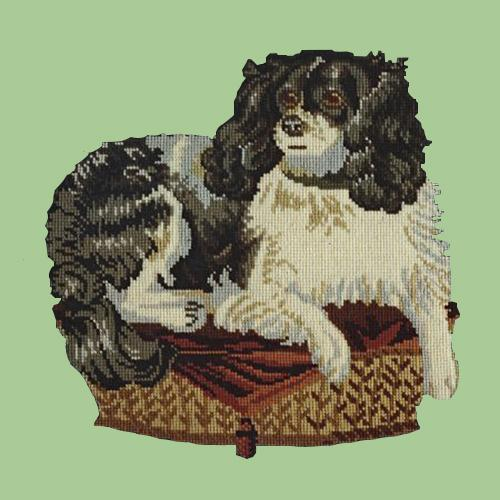 The King Charles Spaniel Needlepoint Kit Elizabeth Bradley Design Pale Green