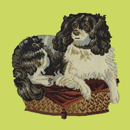 The King Charles Spaniel Needlepoint Kit Elizabeth Bradley Design Pale Lime