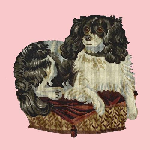 The King Charles Spaniel Needlepoint Kit Elizabeth Bradley Design Pale Rose