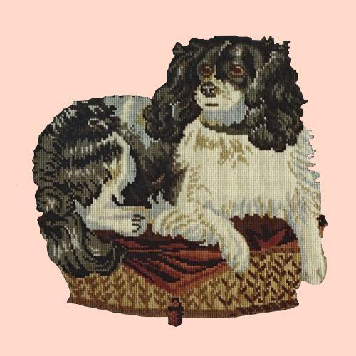 The King Charles Spaniel Needlepoint Kit Elizabeth Bradley Design Salmon Pink