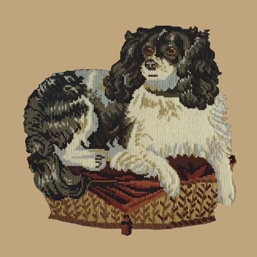 The King Charles Spaniel Needlepoint Kit Elizabeth Bradley Design Sand
