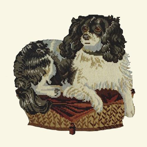 The King Charles Spaniel Needlepoint Kit Elizabeth Bradley Design Winter White