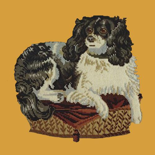 The King Charles Spaniel Needlepoint Kit Elizabeth Bradley Design Yellow