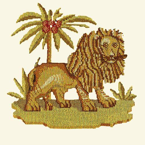 The Lion Needlepoint Kit Elizabeth Bradley Design Winter White
