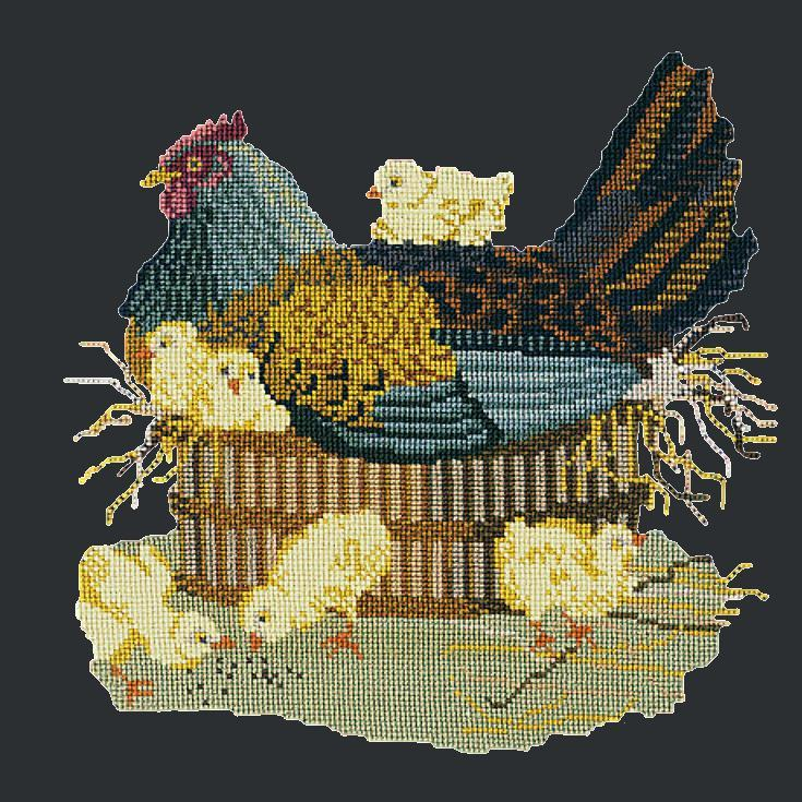 The Mother Hen Needlepoint Kit Elizabeth Bradley Design Black