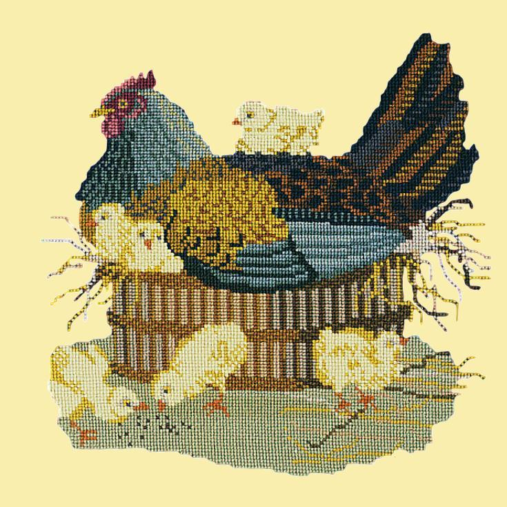 The Mother Hen Needlepoint Kit Elizabeth Bradley Design Butter Yellow