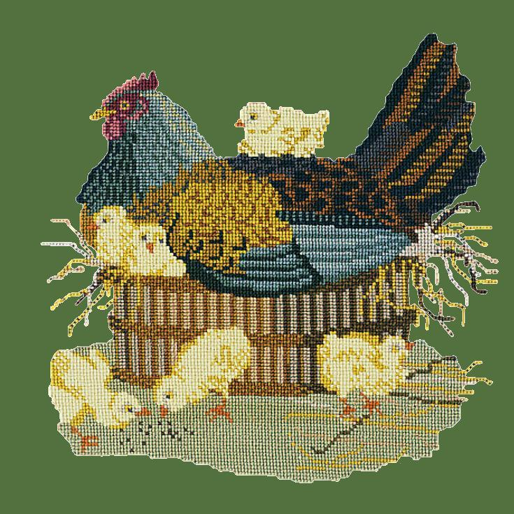 The Mother Hen Needlepoint Kit Elizabeth Bradley Design Dark Green