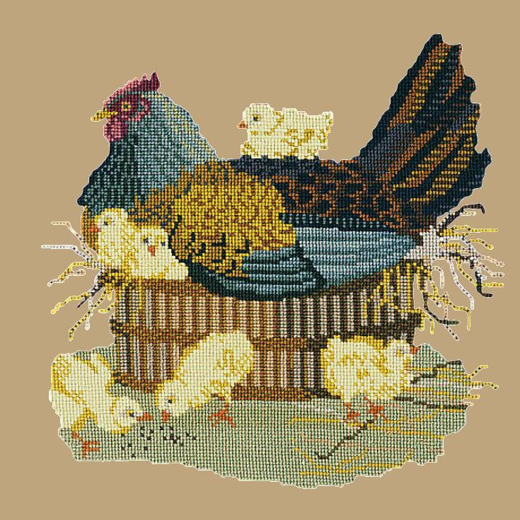 The Mother Hen Needlepoint Kit Elizabeth Bradley Design Sand