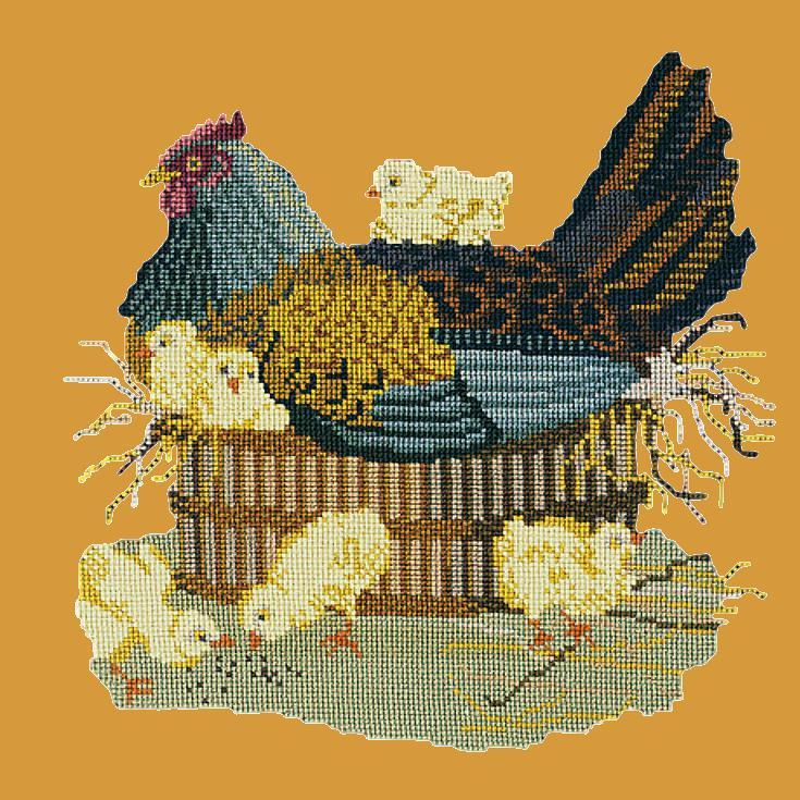 The Mother Hen Needlepoint Kit Elizabeth Bradley Design Yellow