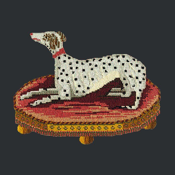 The Spotted Dog Needlepoint Kit Elizabeth Bradley Design Black