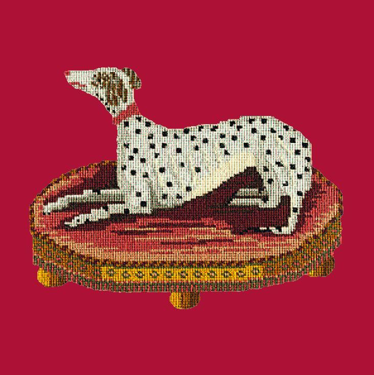 The Spotted Dog Needlepoint Kit Elizabeth Bradley Design Bright Red