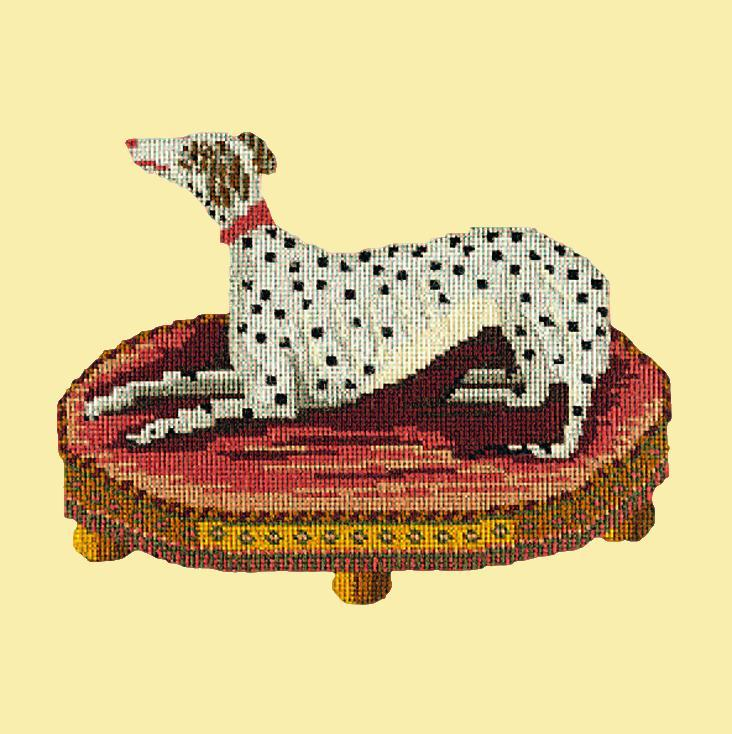 The Spotted Dog Needlepoint Kit Elizabeth Bradley Design Butter Yellow