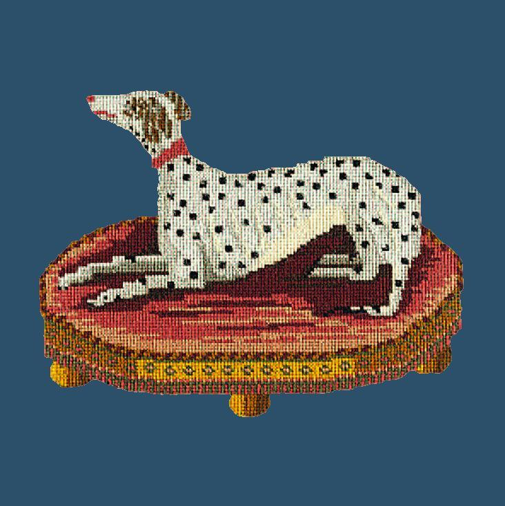 The Spotted Dog Needlepoint Kit Elizabeth Bradley Design Dark Blue