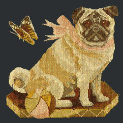 Toby the Pug Needlepoint Kit Elizabeth Bradley Design Black