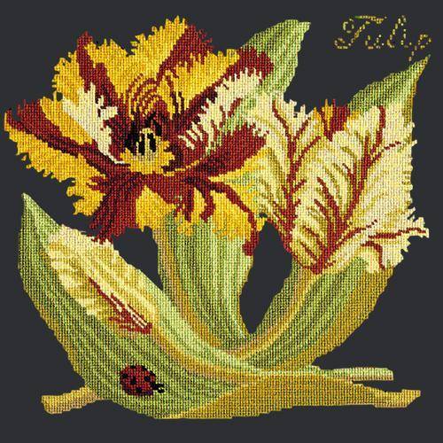 Tulip Needlepoint Kit Elizabeth Bradley Design Black