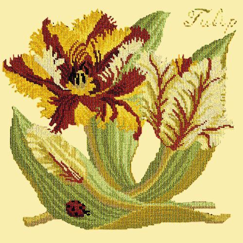 Tulip Needlepoint Kit Elizabeth Bradley Design Butter Yellow