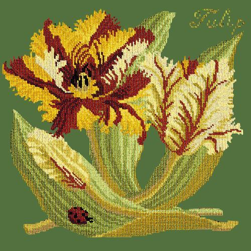 Tulip Needlepoint Kit Elizabeth Bradley Design Dark Green