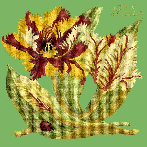 Tulip Needlepoint Kit Elizabeth Bradley Design Grass Green