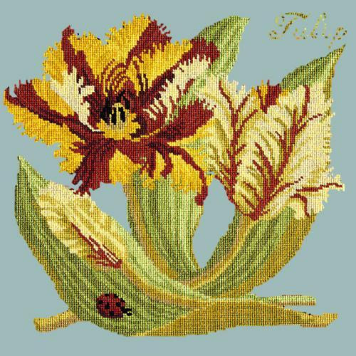 Tulip Needlepoint Kit Elizabeth Bradley Design Pale Blue
