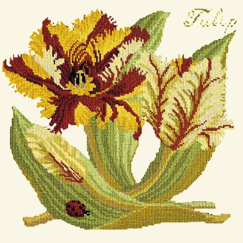 Tulip Needlepoint Kit Elizabeth Bradley Design Winter White