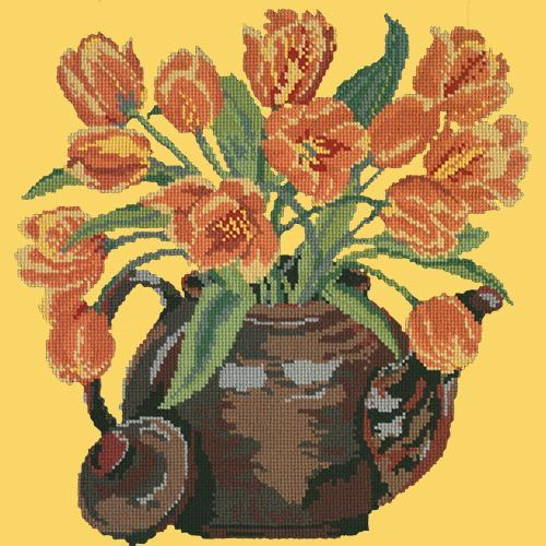 Tulip Teapot Needlepoint Kit Elizabeth Bradley Design Sunflower Yellow