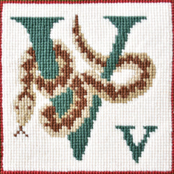 V-Viper Needlepoint Kit Elizabeth Bradley Design