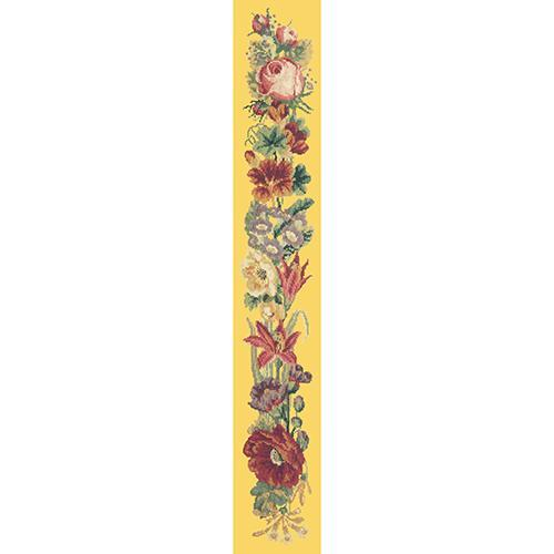 Victorian Flower Bell Pull Needlepoint Kit Elizabeth Bradley Design Sunflower Yellow