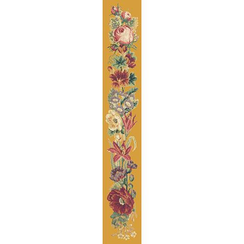 Victorian Flower Bell Pull Needlepoint Kit Elizabeth Bradley Design Yellow