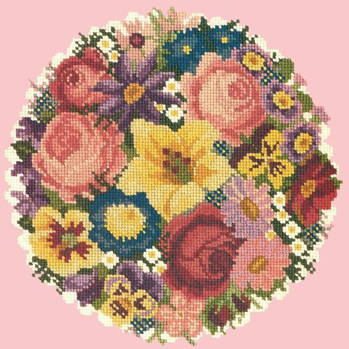 Victorian Posy Needlepoint Kit Elizabeth Bradley Design Pale Rose