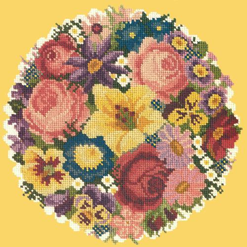 Victorian Posy Needlepoint Kit Elizabeth Bradley Design Sunflower Yellow