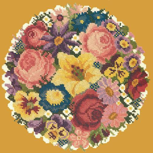 Victorian Posy Needlepoint Kit Elizabeth Bradley Design Yellow