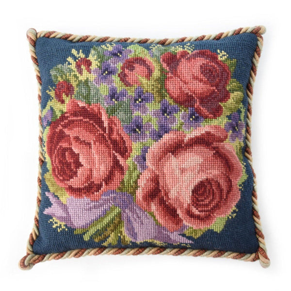 Violets and Roses Needlepoint Kit Elizabeth Bradley Design
