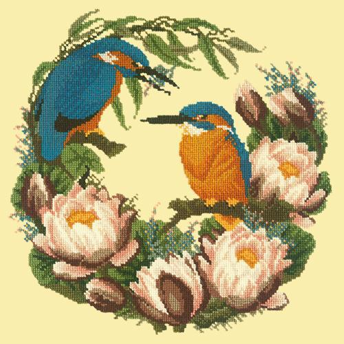 Water Lilies Needlepoint Kit Elizabeth Bradley Design Butter Yellow